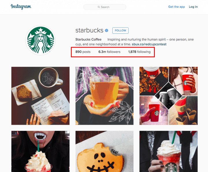 Starbucks Coffee Instagram