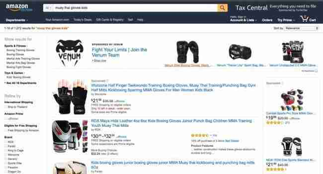 amazon search result
