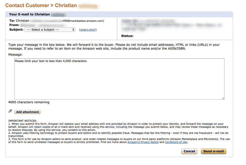 amazon customer contact